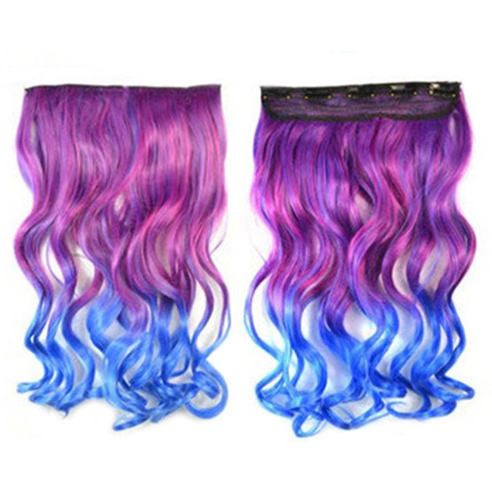 Hair Extension Long Curled Hair Gradient Ramp Wig 15