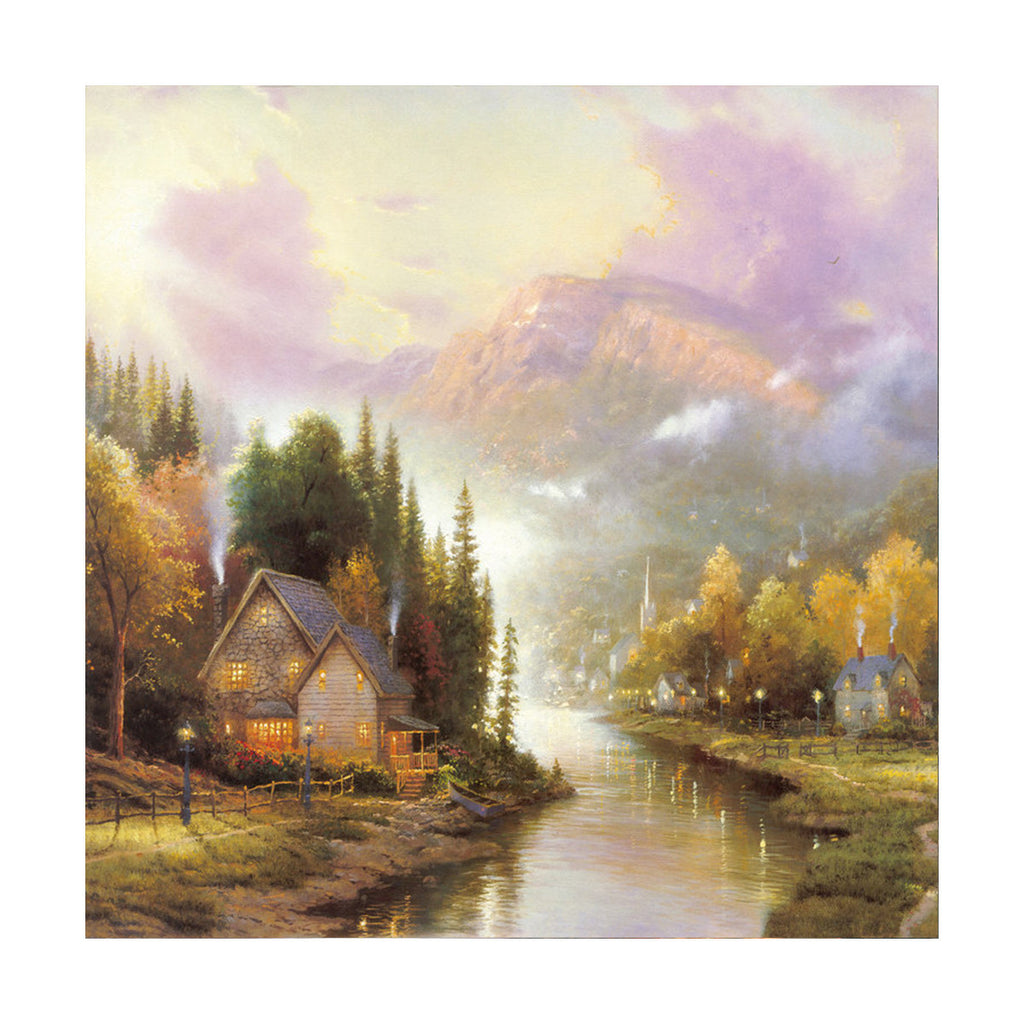 European and American scenery Thomas cattle decoration painting bulk villa hang painting hotel oil painting   16 - Mega Save Wholesale & Retail - 1