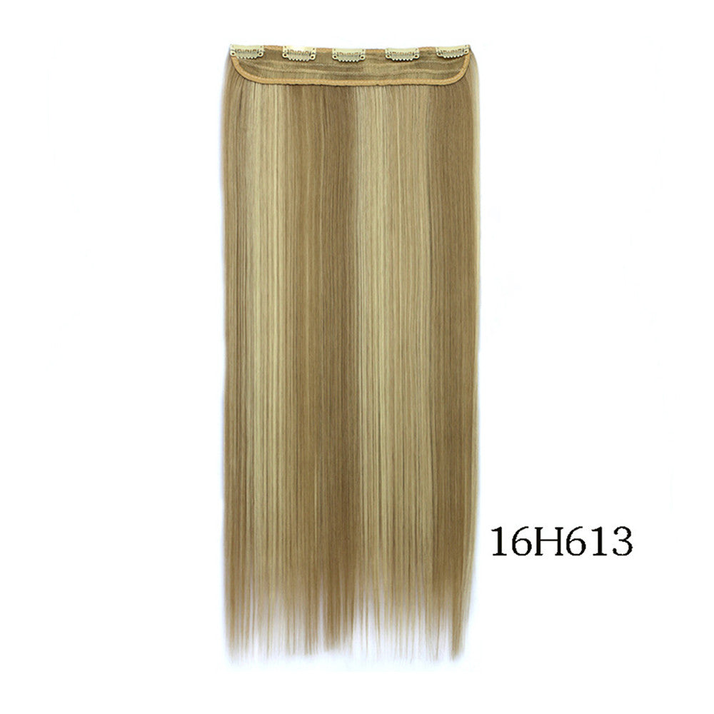 Yiwu's wig factory direct wholesale five piece long straight hair extension card issuing child wig hair piece explosion models in Europe and America   16H613 - Mega Save Wholesale & Retail - 2
