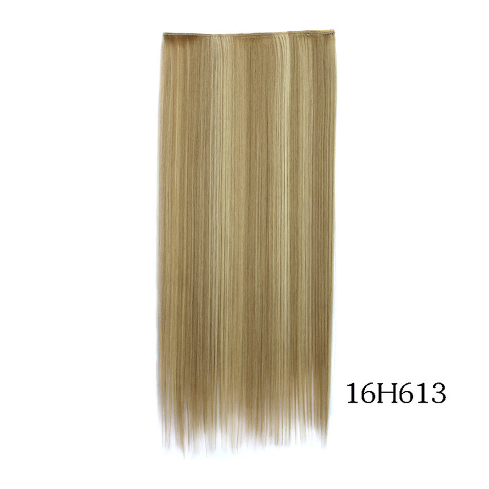 Yiwu's wig factory direct wholesale five piece long straight hair extension card issuing child wig hair piece explosion models in Europe and America   16H613 - Mega Save Wholesale & Retail - 1