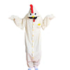 Unisex Adult Pajamas  Cosplay Costume Animal Onesie Sleepwear Suit    White chicken - Mega Save Wholesale & Retail