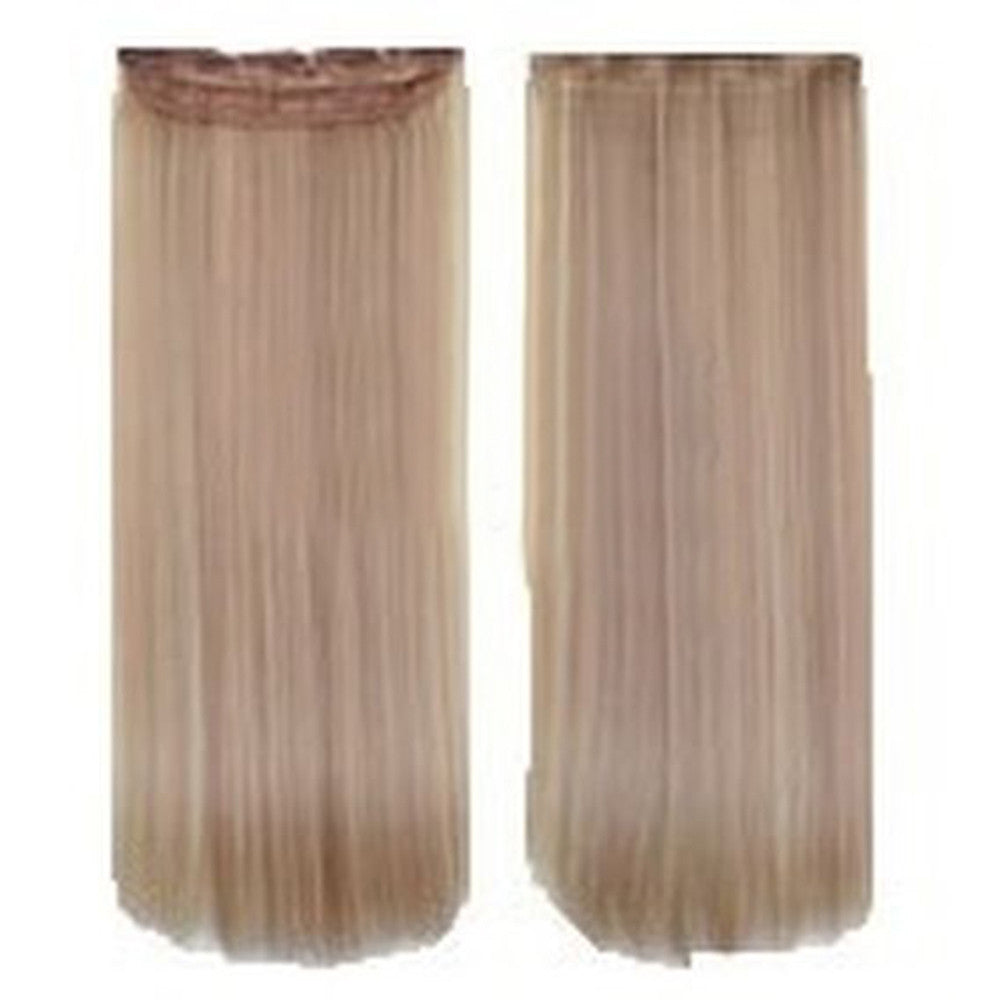 Five card piece 120g high temperature wire synthetic hair Straight hair extension 60 # Seamless wig curtain Highlights   #18/613 - Mega Save Wholesale & Retail - 1