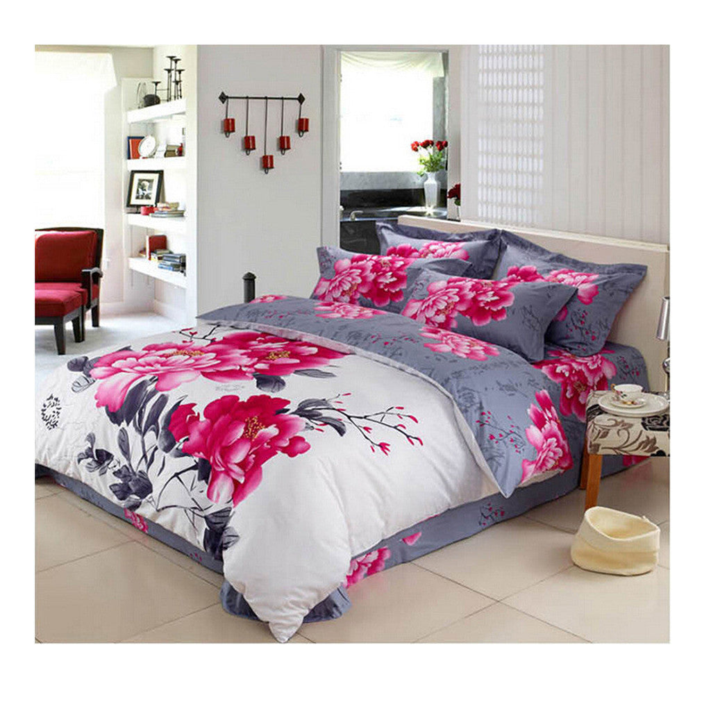 Cotton Active floral printing Quilt Duvet Sheet Cover Sets 2.0M/2.2M Size 19 - Mega Save Wholesale & Retail