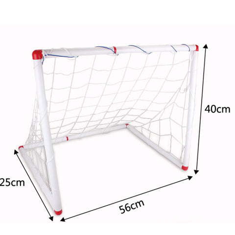 Soccer Goal & Ball Set Air Pump Portable Indoor Outdoor Futbol Child Small Size - Mega Save Wholesale & Retail