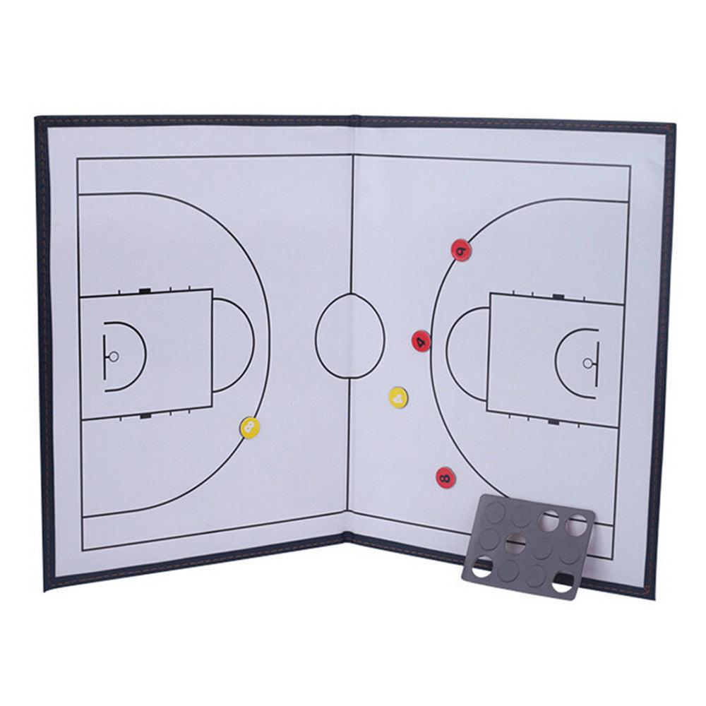 Foldable markers tactics coaching board Basketball Sport strategy board Coaches Tactic Folder - Mega Save Wholesale & Retail - 2
