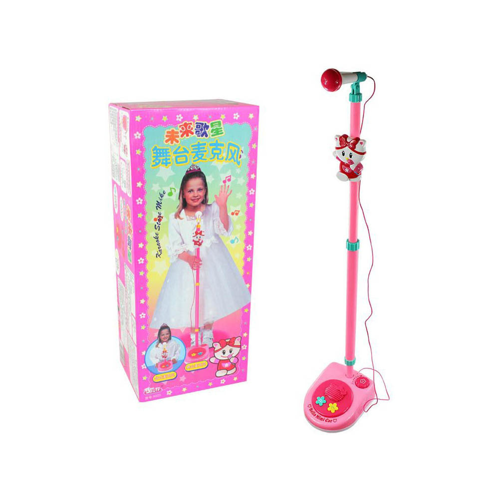 Polaroid toy vertical retractable microphone K song hyun future singer Jane stage microphone children toys - Mega Save Wholesale & Retail