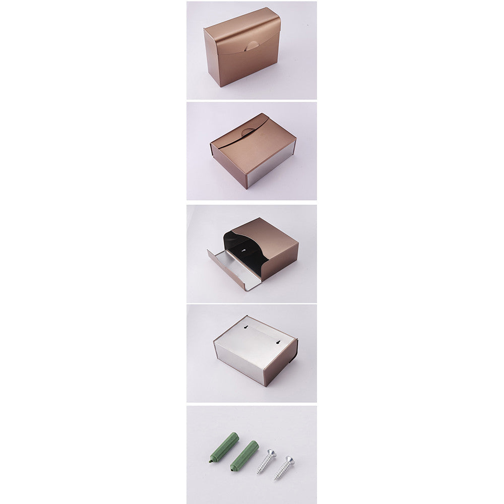 Stainless steel sanitary toilet tissue carton Box  K30 DRAWING GOLD - Mega Save Wholesale & Retail - 4