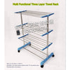 Trade new three-tier drying rack stainless steel floor towel rack Zhiwu layer mobile 8388 - Mega Save Wholesale & Retail