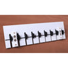 Piano Keyboard Hook, Coat Clothes Bag Rack Hanger    black and white - Mega Save Wholesale & Retail - 1