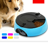 6 Meal Timed Auto Pet Feeder Dog Cat Digital Display Time-lapse Automatic Tray Pink - Mega Save Wholesale & Retail - 3