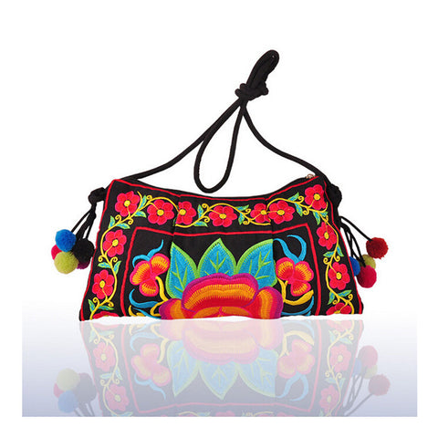 Embroidery Bag Yunnan National Chinese Style Embroidery Featured Messenger Bag Foreign Trade Bag Mmorning Glory - Mega Save Wholesale & Retail - 1