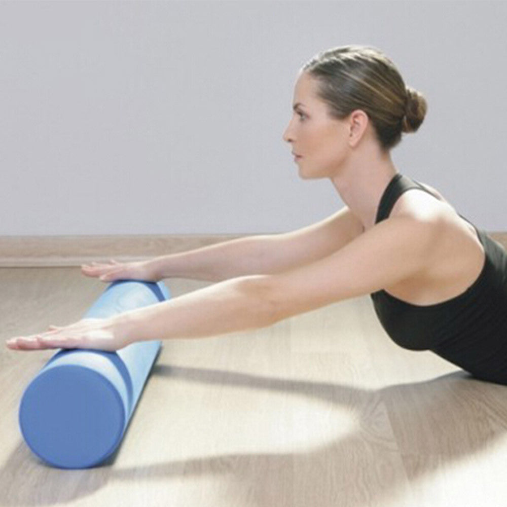 Yoga Gym Pilates EVA Soft Foam Roller Floor Exercise Fitness Trigger 45x14.5cm Blue - Mega Save Wholesale & Retail - 3