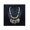 European Fashionalbe Nexklace New Pearl Tassel Golden Leaf Big Brand Woman Necklace - Mega Save Wholesale & Retail