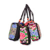Embrioidery Bag National Three Zippers Mobile Phone Bag Featured Embroidery Handbag Coin Case(Small Size) - Mega Save Wholesale & Retail - 1
