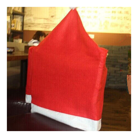 1PCS Christmas Decor Santa Hat Chair Cover party Decorations - Mega Save Wholesale & Retail