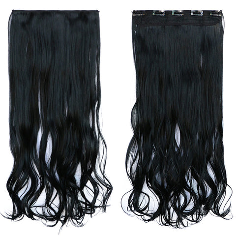 120g One Piece 5 Cards Hair Extension Wig     1#