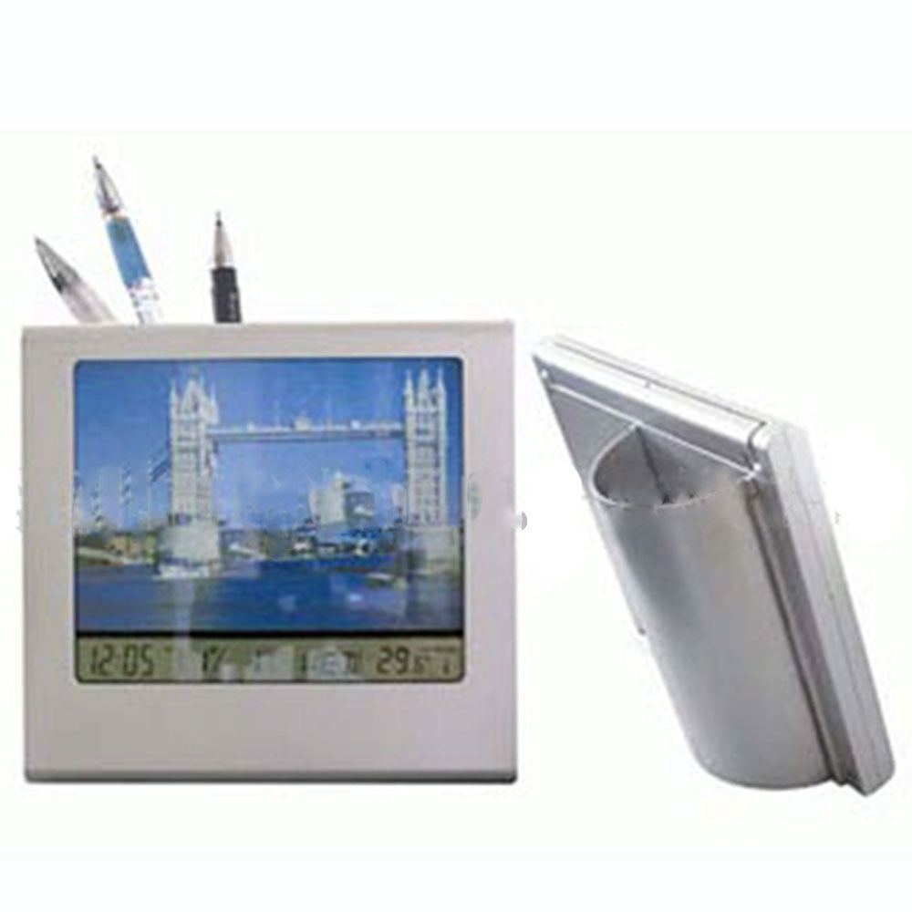 Multi-functional electronic pen Alarm clock Alarm Clock Photo Frame frame folding frame calendar penholder - Mega Save Wholesale & Retail - 2