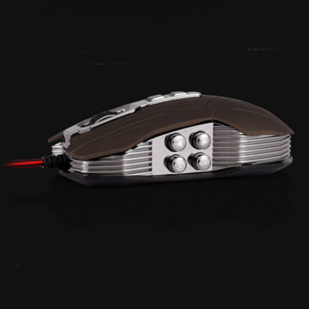 9D 2400DPI 9 Buttons Optical Usb Gaming Multimedia Mouse Gray - Mega Save Wholesale & Retail - 2