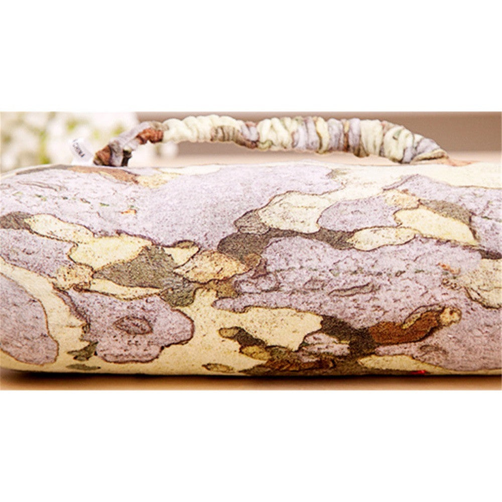 "Cushion Bolster Pillow Wood Log Tree Stump Design 28 11"" x 8  3.15"" - Mega Save Wholesale & Retail - 1"