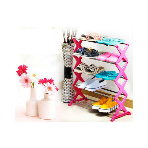 15 Pairs 5 Tier Level Stackable Space Saving Shoes Rack Organizer Storage Shelf - Mega Save Wholesale & Retail