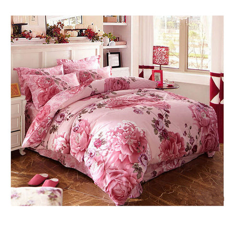 Cotton Active floral printing Quilt Duvet Sheet Cover Sets  Size 21 - Mega Save Wholesale & Retail
