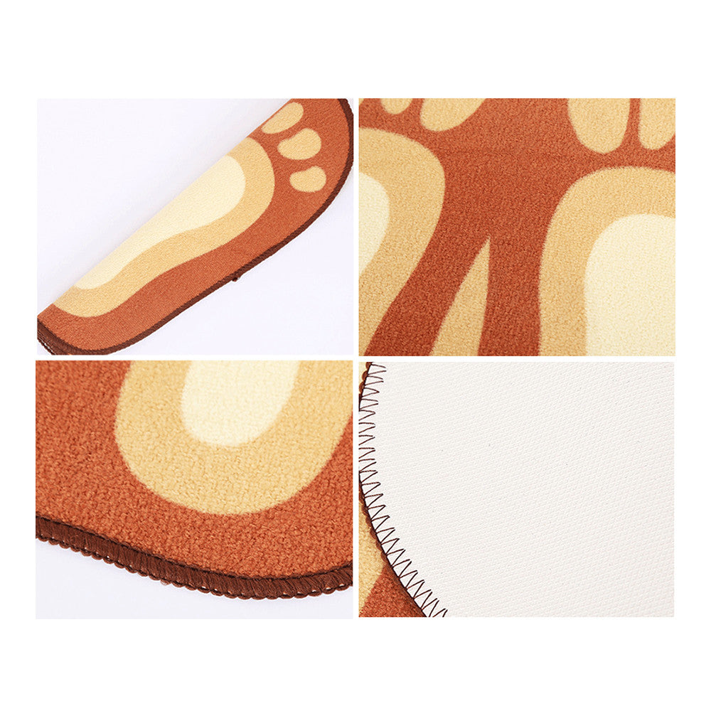 Cartoon Foot Shape Ground Floor Foot Mat Antiskid blue - Mega Save Wholesale & Retail - 3