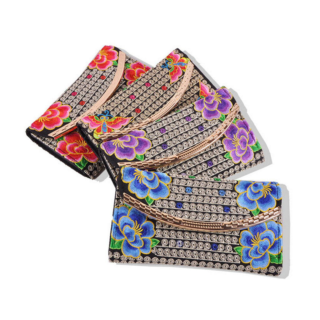 Yunnan National Style Embroidery Woman's Evening Banquet Bag Handbag Chinese Style Flower Banquet Bag   1 flower random - Mega Save Wholesale & Retail - 3