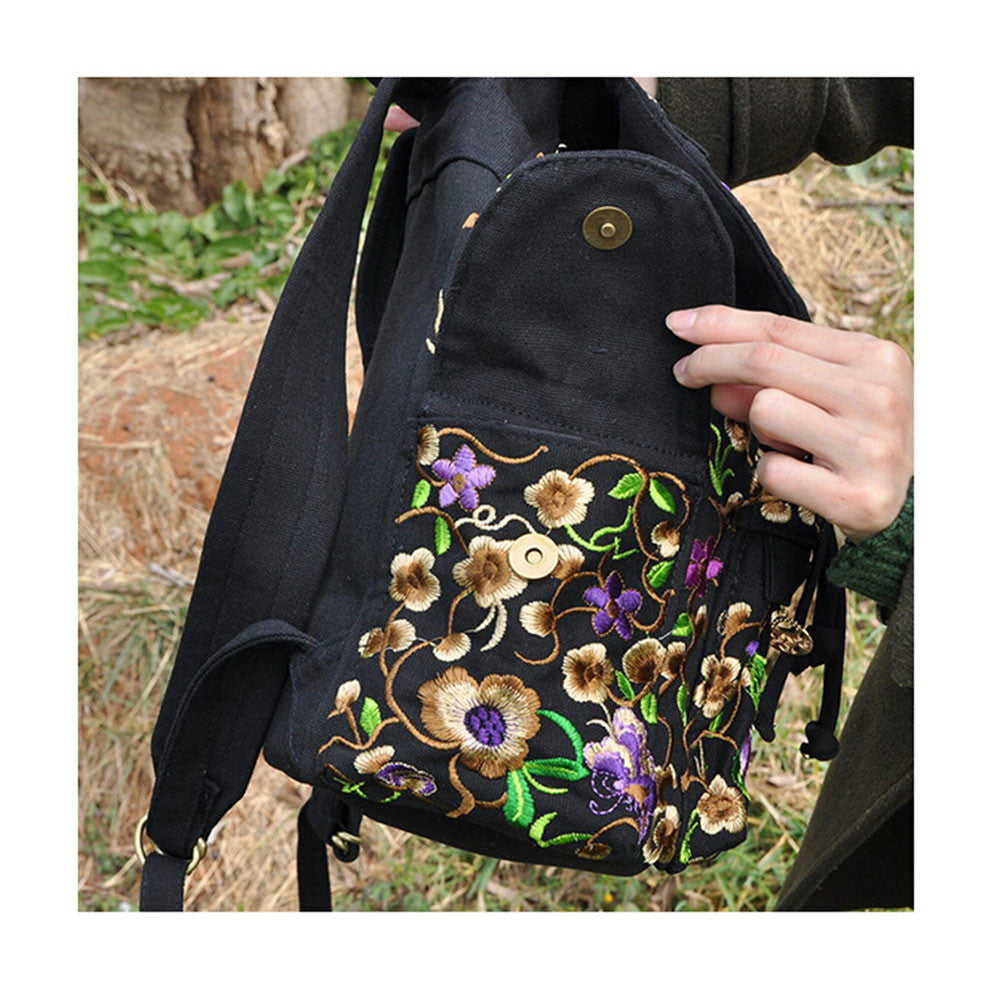 Spring Festival's Gift Yunnan Fashionable National Style Embroidery Bag Stylish Featured Shoulders Bag 93048   peony flower with random color - Mega Save Wholesale & Retail - 5