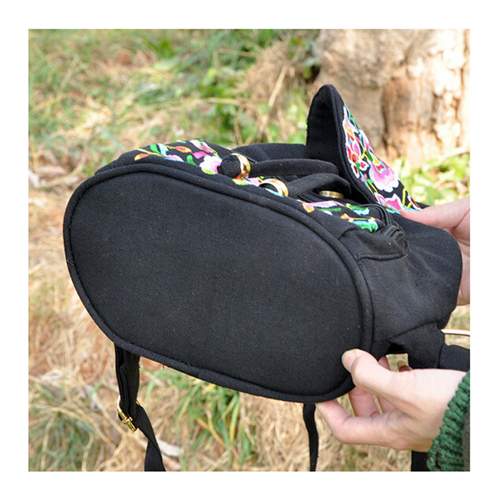 New Yunnan Fashionable Embroidery Bag Stylish Featured Shoulders Bag Fashionable Woman's Bag Bulk 93012   catharanthus roseus - Mega Save Wholesale & Retail - 3