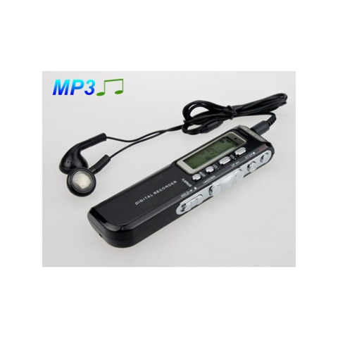 8GB High Quality Voice Recorder 576Hr MP3 Player Black - Mega Save Wholesale & Retail