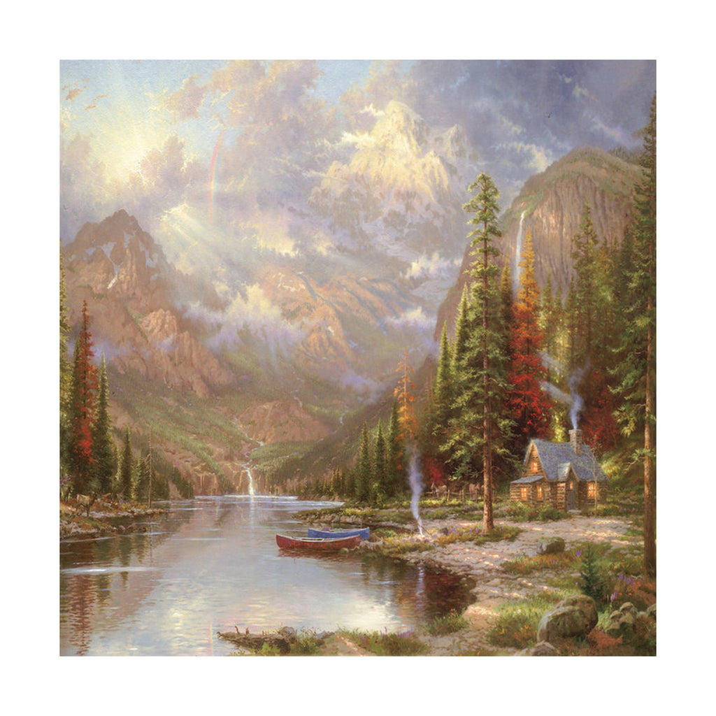European and American scenery Thomas cattle decoration painting bulk villa hang painting hotel oil painting   22 - Mega Save Wholesale & Retail - 1