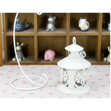 Retro Hollowed Out Iron Art Candle Holder  White - Mega Save Wholesale & Retail - 3