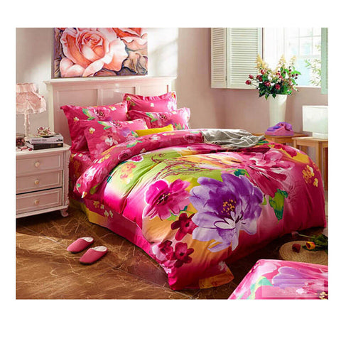 Cotton Active floral printing Quilt Duvet Sheet Cover Sets  Size 23 - Mega Save Wholesale & Retail