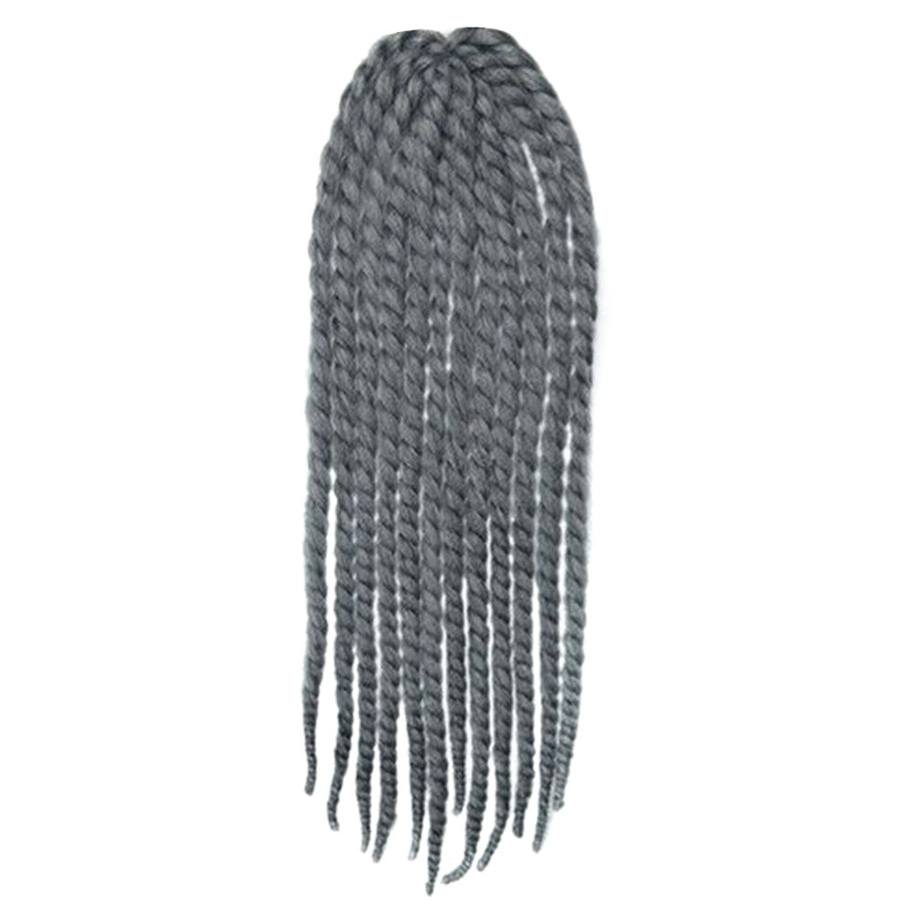 24inch Negro Wig Hair Extension African Braid     white grey B/H# - Mega Save Wholesale & Retail - 1