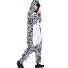 Unisex Adult Pajamas  Cosplay Costume Animal Onesie Sleepwear Suit    zebra - Mega Save Wholesale & Retail
