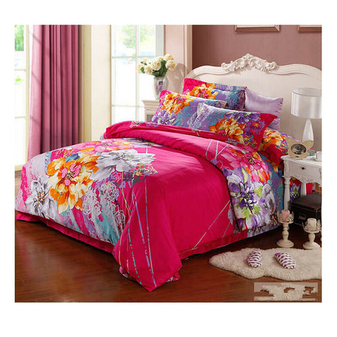 Cotton Active floral printing Quilt Duvet Sheet Cover Sets  Size 26 - Mega Save Wholesale & Retail