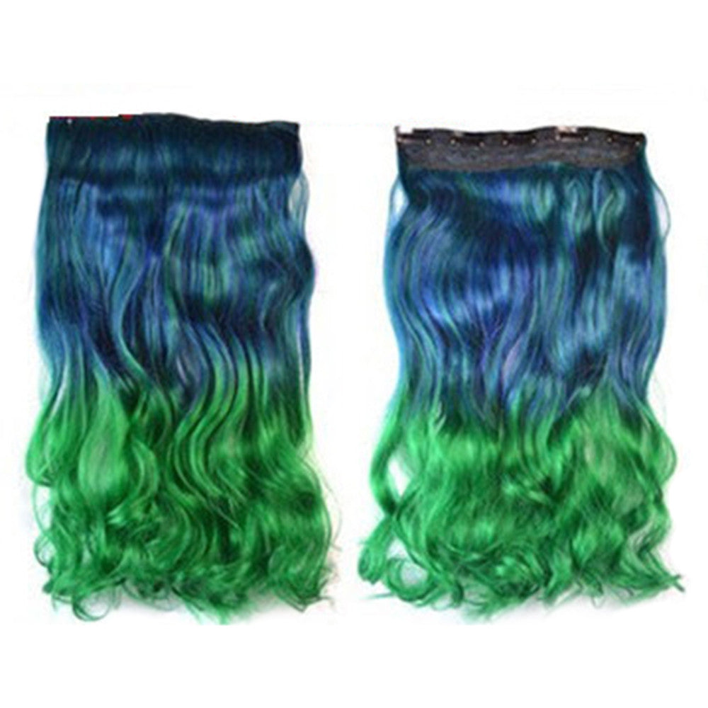 Hair Extension Long Curled Hair Gradient Ramp Wig 26