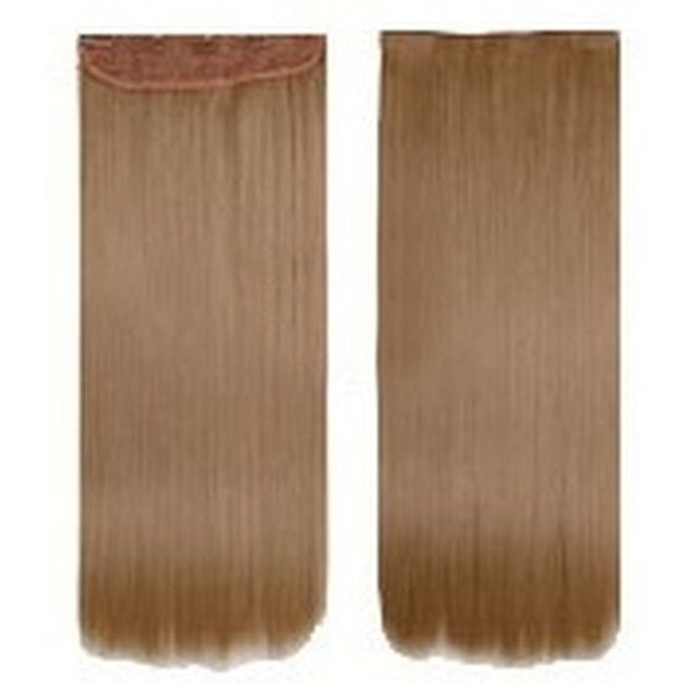 Five card piece 120g high temperature wire synthetic hair Straight hair extension 60 # Seamless wig curtain Highlights   #27 - Mega Save Wholesale & Retail - 1