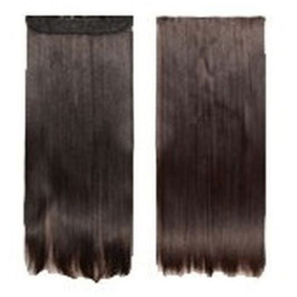 Five card piece 120g high temperature wire synthetic hair Straight hair extension 60 # Seamless wig curtain Highlights   #2 - Mega Save Wholesale & Retail - 1