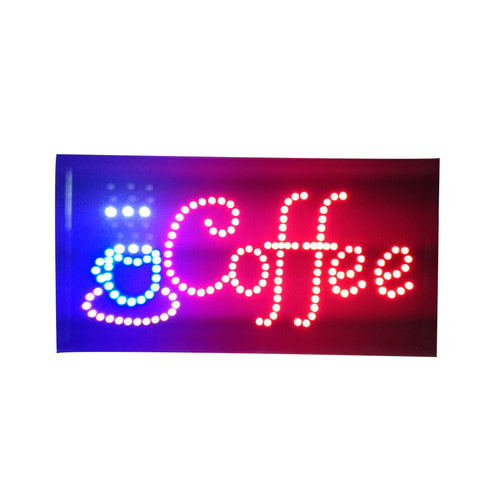 Neon Lights LED Animated Coffee Sign Customers Attractive Sign Store Shop Sign - Mega Save Wholesale & Retail
