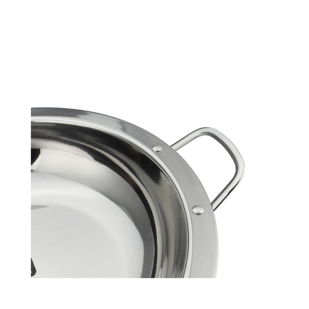 2 PCT special thick stainless steel broadside ears dry pan alcohol stove Stewed broadside Bar Ding   24CM - Mega Save Wholesale & Retail