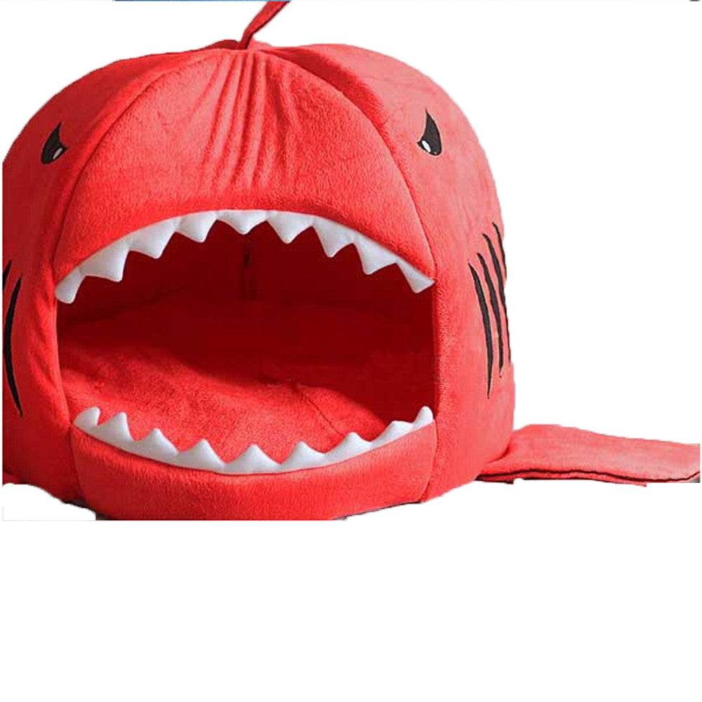 Shark Mouth Shape Pets House Bed For Dog Cat Small Blue - Mega Save Wholesale & Retail - 2