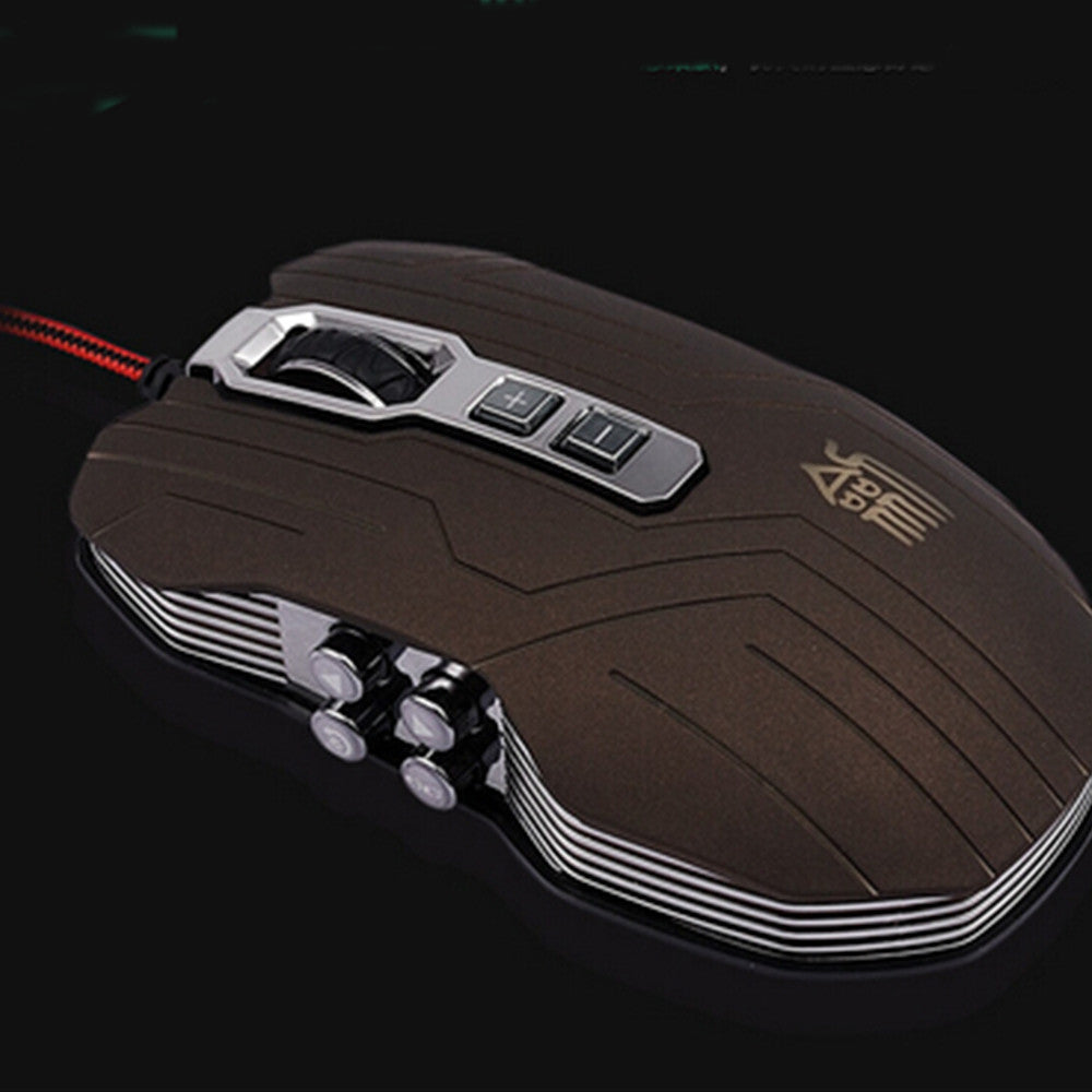 9D 2400DPI 9 Buttons Optical Usb Gaming Multimedia Mouse Gray - Mega Save Wholesale & Retail - 3