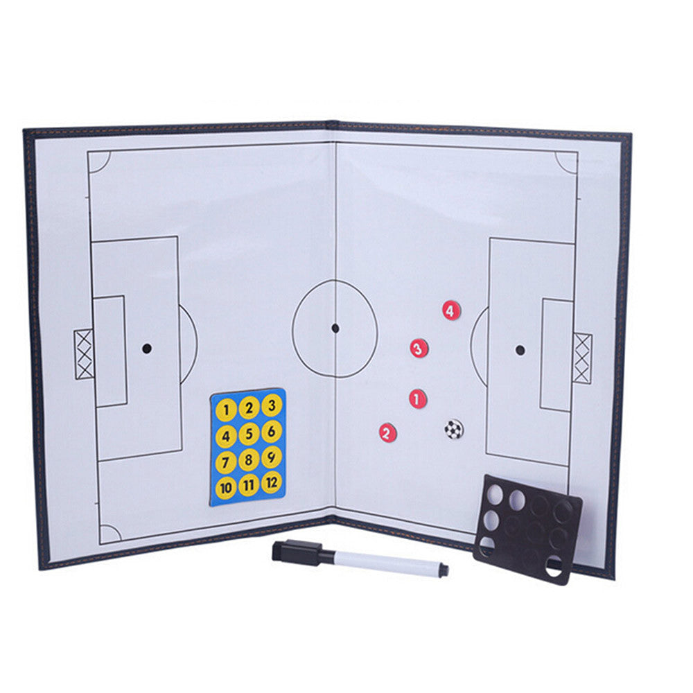 Foldable markers tactics coaching board Soccer/Football Sport strategy board Coaches Tactic Folder - Mega Save Wholesale & Retail - 2
