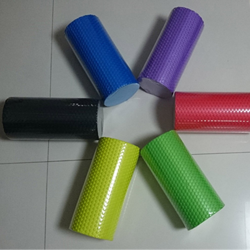 Yoga Gym Pilates EVA Soft Foam Roller Floor Exercise Fitness Trigger 30x14.5cm Purple - Mega Save Wholesale & Retail - 3