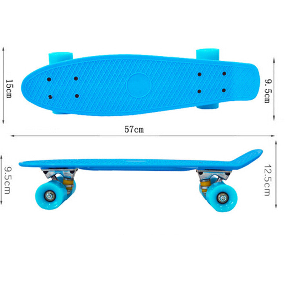 Complete Mini Cruiser Penny Style Skateboard street skate banana plastic Various colours Yellow - Mega Save Wholesale & Retail - 4