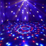 Disco DJ Effect Stage Lighting RGBOWP LED Mp3 Bluetooth Magic Crystal Ball Light 110V - Mega Save Wholesale & Retail - 4