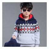 Korean and cashmere Hoodie sweater boy Adidas thickening three piece Grey - Mega Save Wholesale & Retail - 2