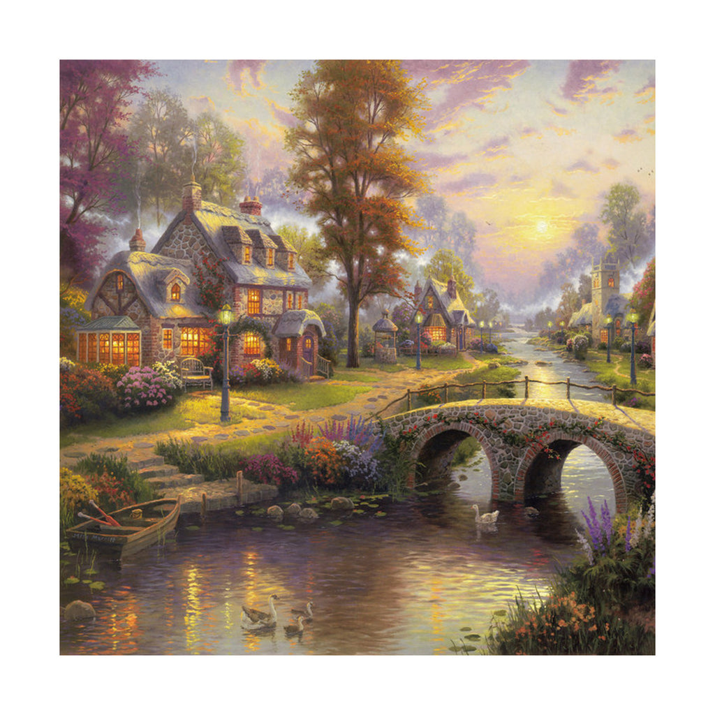 European and American scenery Thomas cattle decoration painting bulk villa hang painting hotel oil painting    *30 - Mega Save Wholesale & Retail - 1