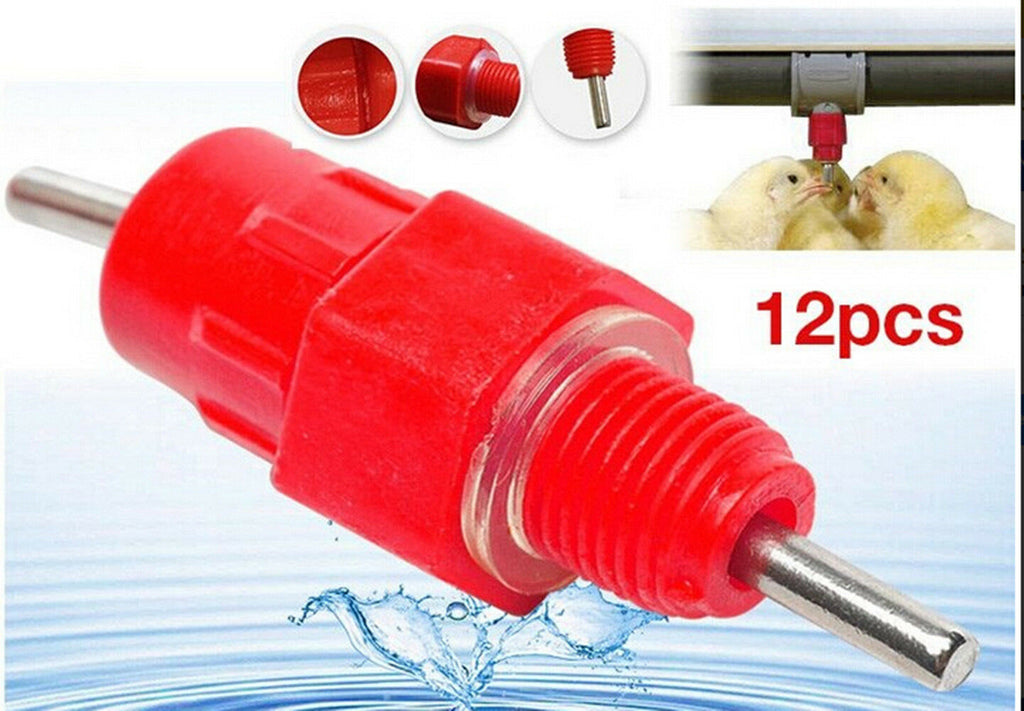 12x Water Nipple Valve Auto Drinker Waterer Feeder